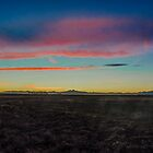 Farm Sunset Behind The Rockies by Jake Kauffman
