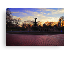 Central Park - Angel of the Fountain Canvas Print