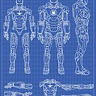 Iron Man Mark 7 Blueprints by nick94