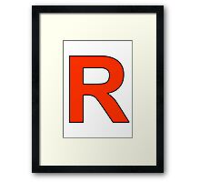 Team Rocket Logo Framed Print