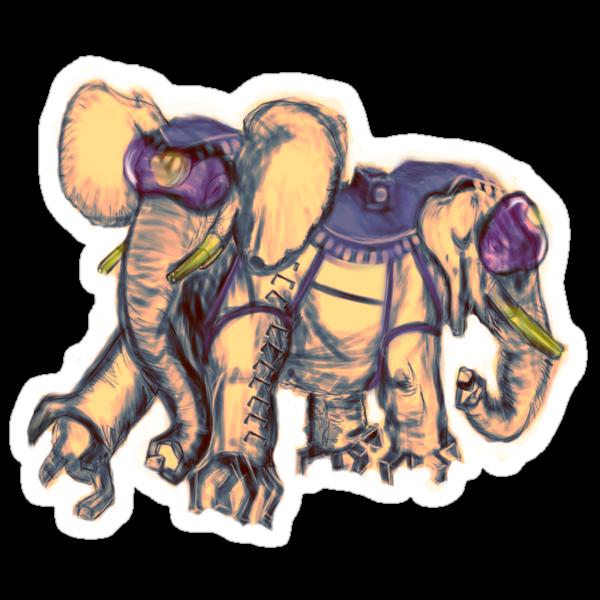 Ancient Psychic Tandem War Elephant by NOFICCION