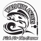 World Wide Anglers - Black by GKdesign
