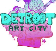 Detroit Art City (Blue) by Kelly Guillory
