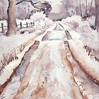Winter on Strensall Common by Val Spayne