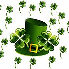 Saint Patricks Shamrock Hat by kasseggs