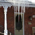 Icicles in the country by Brenda Dickie