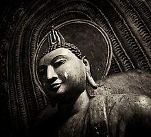 Meditating Buddha by Loriene Perera