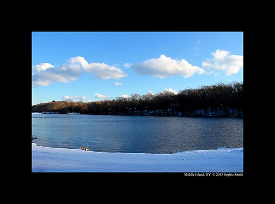 White Clouds Above Spring Lake - Middle Island, New York by © Sophie W. Smith