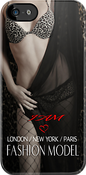 """ I AM "" Fashion Model ( Lady Of Lust ) Designer iPhone Case by Love Through The Lens"