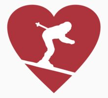 I love Skiing Heart by theshirtshops