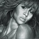 Beyonce Original Pencil Drawing by OnePortraitArt