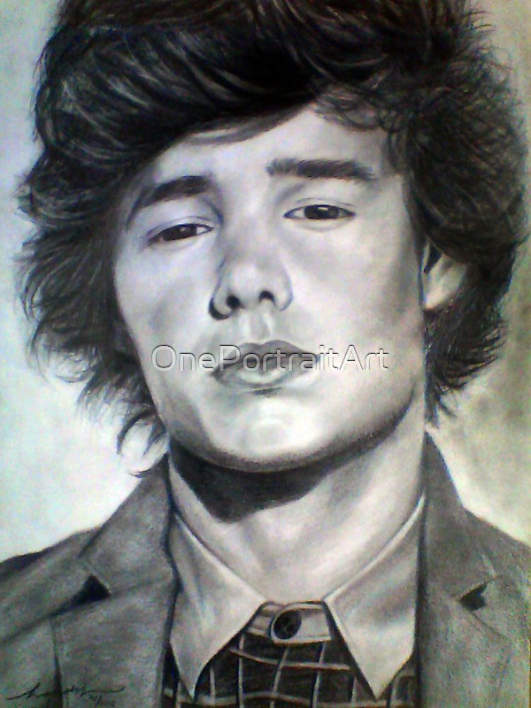 One Direction Liam Payne Original Pencil Drawing by OnePortraitArt