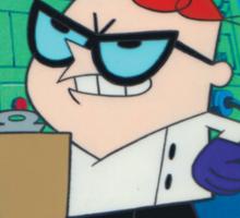 Dexter - Dexter's Laboratory (Production Cel) Sticker