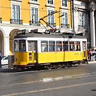 tram in lisbon by Ziva Javersek