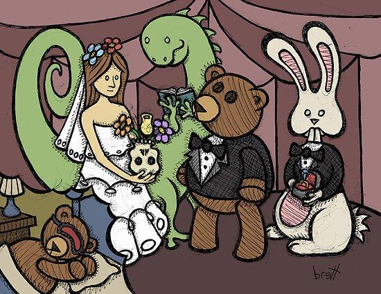 Teddy Bear And Bunny - Teddy's Dream by Brett Gilbert