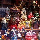 Window Display of Papier-mch figures - Venice, Italy by Marilyn Harris