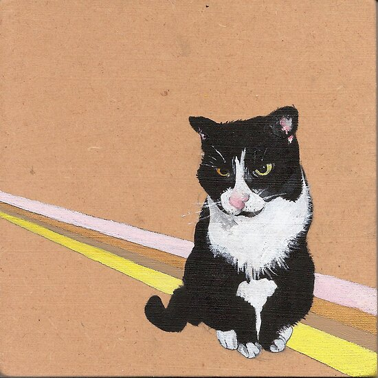 Tuxedo Cat by NancyBenton