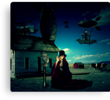 Friday - Surrealistic Steampunk Photo Manipulation Canvas Print