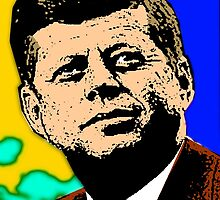 JFK (POP-ART) 2 by OTIS PORRITT