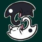 YinYang cat (apparel & stickers) by Barking-trees