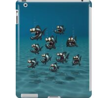 Shoal of Daft Piranha with old Duffer Fish iPad Case/Skin