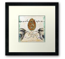 From A to B Framed Print