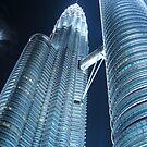 Petronas Twins towering above by Meg Blake
