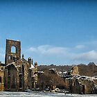 Kirkstall Abbey In The Snow by Tim Waters