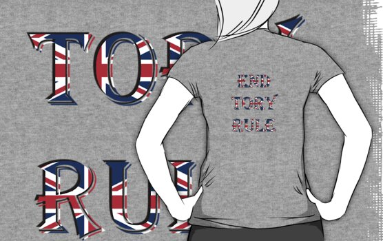 End Tory Rule Scottish Independence T-Shirt by simpsonvisuals