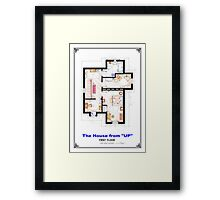 The House from UP - First Floor Floorplan Framed Print
