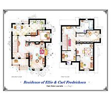 "Floorplan of the House from ""UP"" Photographic Print"