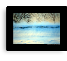 Winter Breeze By The Spring Lake - Middle Island, New York Canvas Print