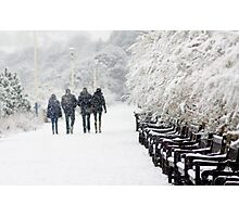 Four in the snow (Eastbourne, 2013) Photographic Print