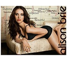 "Alison Brie ""Sexy"" Typography Photographic Print"