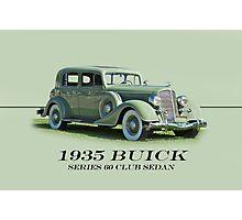 1935 Buick Series 60 Club Sedan w/ID Photographic Print
