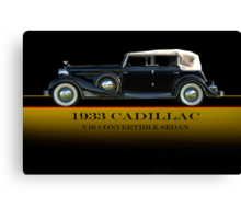 1933 Cadillac V16 Convertible Sedan w/ID Canvas Print