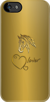 "I-Phone case ""Horselover"" - golden edit by scatharis"