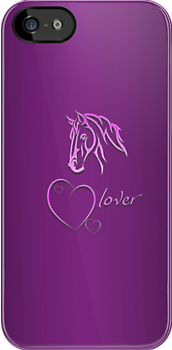 "I-Phone case ""Horselover"" pink edit by scatharis"