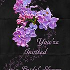 Bridal Shower Invitation - Floral Lilacs by MotherNature
