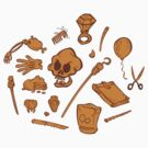 The Curse of Monkey Island Inventory (brown) by klook