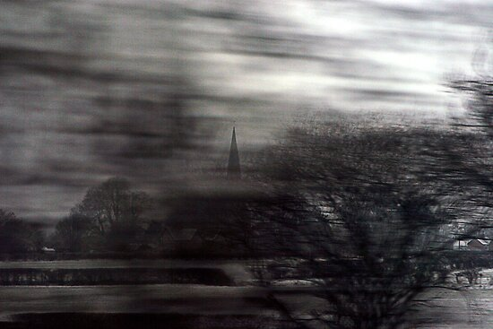 A Spire From A Train by James  Leader