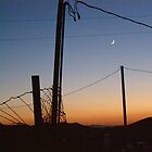 Desert Sunset With Pole by Fred  Senecal