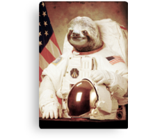 Astronaut Sloth Canvas Print