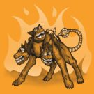 Steampunked Cerberus by InsectsAngels