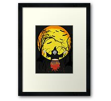 witch in forest Framed Print