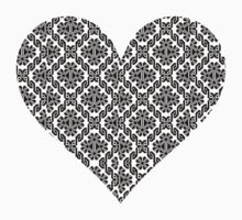 Ukrainian cross stitch heart light by blueyell