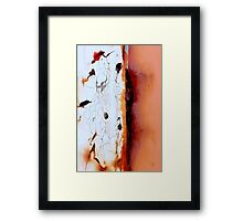 Burnt Ice Framed Print