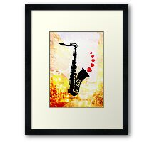 Sax and Love Framed Print