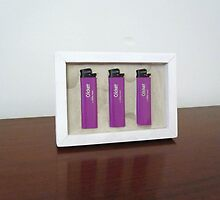 "Object "" Three absolutely new purple lighters Cricket "" by Natasha  Perova"