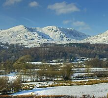 The Coniston Fells In Winter by VoluntaryRanger